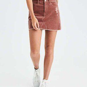 AE Vintage Hi-Rise Pink Corduroy Skirt